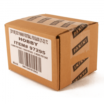 2021 Panini Black Football Hobby 12 Box Case