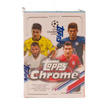 2020-21 Topps Chrome UEFA Champions League Soccer Blaster Box