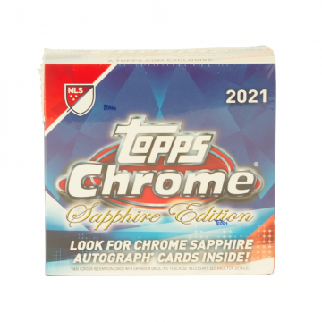 2021 Topps Chrome Sapphire MLS Soccer Hobby Box