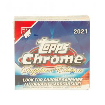 2021 Topps Chrome Sapphire MLS Soccer Hobby 10 Box Case