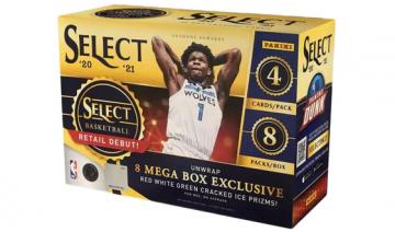 2020-21 Panini Select Basketball Mega Box (Red/White/Green Prizm)