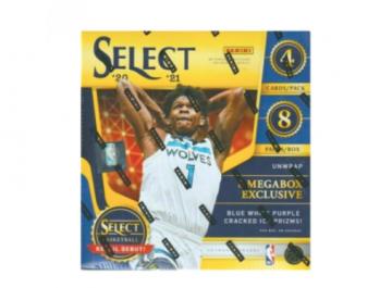 2020-21 Panini Select Basketball Mega Box (Blue/White/Purple Prizm)