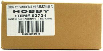 2018 Panini Select Football Hobby 12 Box Case