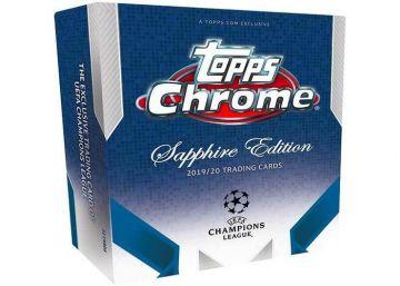 2019-20 Topps Chrome UEFA Champions League Soccer Sapphire Edition Hobby Box