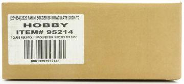 2020 Panini Immaculate Soccer Hobby 6 Box Case