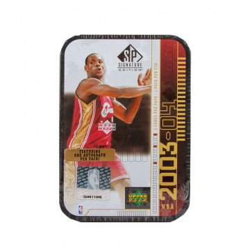 2003-04 Upper Deck SP Signature Basketball Hobby Lebron Black Tin Box