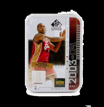 2003-04 Upper Deck SP Signature Basketball Hobby Lebron Tin White Box