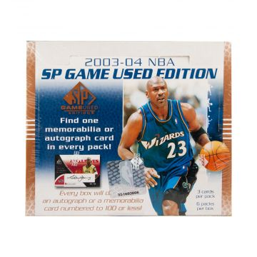 2003-04 Upper Deck SP Game Used Basketball Hobby Box