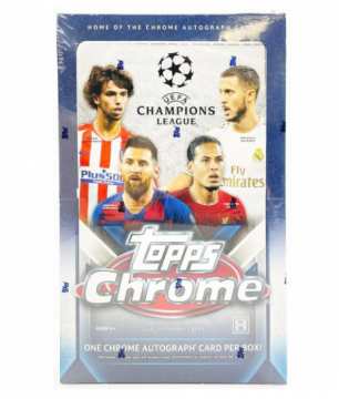 2019-20 Topps Chrome UEFA Champions Soccer Hobby Box