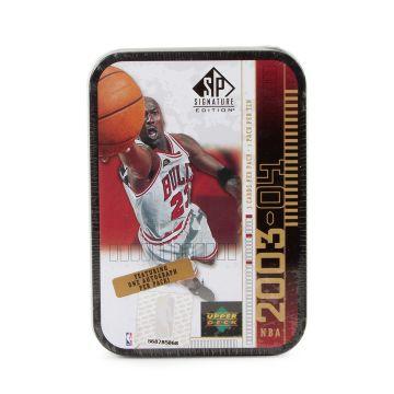 2003-04 Upper Deck SP Signature Basketball Hobby Jordan Black Tin Box