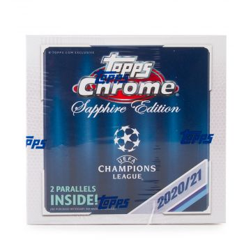 2020-21 Topps Chrome UEFA Champions League Sapphire Soccer Edition Hobby Box