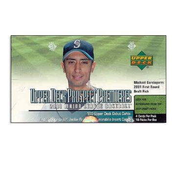 2001 Upper Deck Prospect Premieres Baseball Box