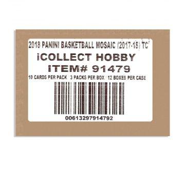 2017-18 Panini Prizm Mosaic Basketball Hobby 12 Box Case